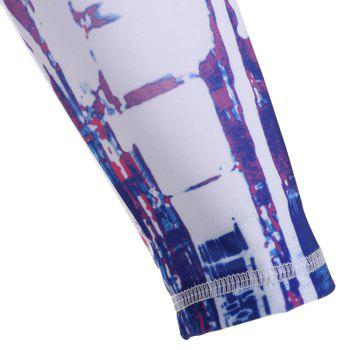 Graphic Quick Dry Cycling Mask and Arm Sleeves - DEEP BLUE DEEP BLUE