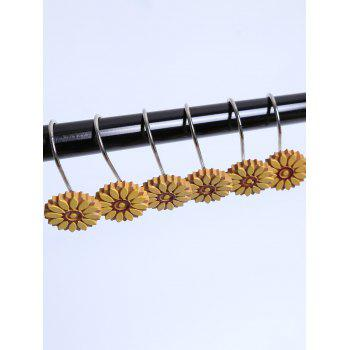 12 Pcs Resin Sunflower Shower Curtain Hooks