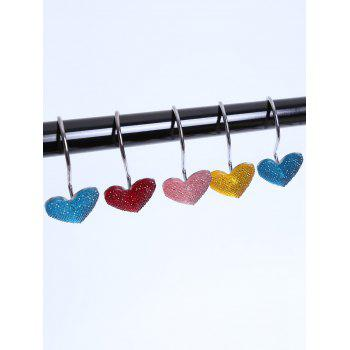 12 Pcs Heart Shape Shower Curtain Hooks