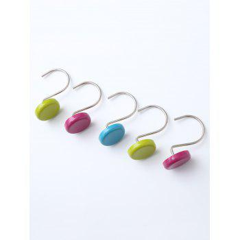 12 Pcs Round Shower Curtain Resin Hooks - COLORMIX