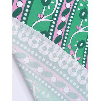 Circle Floral Print Beach Cover Throw - GREEN GREEN