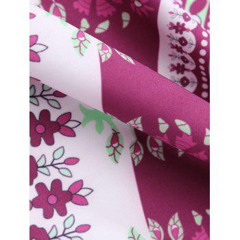 Circle Floral Print Beach Cover Throw - ONE SIZE ONE SIZE