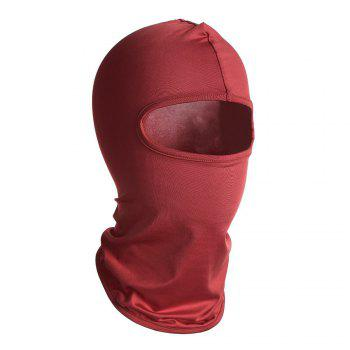 Quick Dry Full Face Cycling Mask -  RED