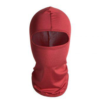 Quick Dry Full Face Cycling Mask - RED RED