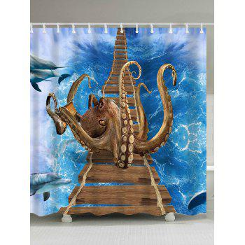 Overbridge Octopus Bathroom Shower Curtain