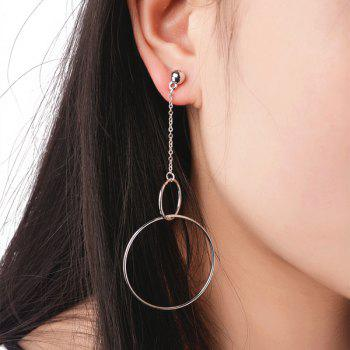 Alloy Bead Chain Circle Drop Earrings