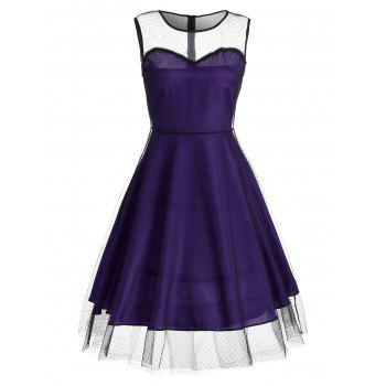 Homecoming Vintage Mesh Panel Dress