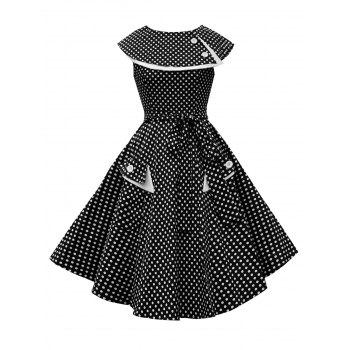 Pocket Polka Dot Vintage Dress