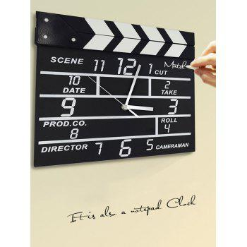 Creative Notepad Clock Home Office Decoration Movie Set Clock