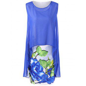 High Low Hem Blouse with Casual Tank Dress