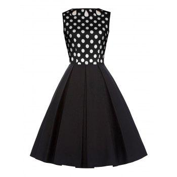 Cut Out Polka Dot Vintage Dress