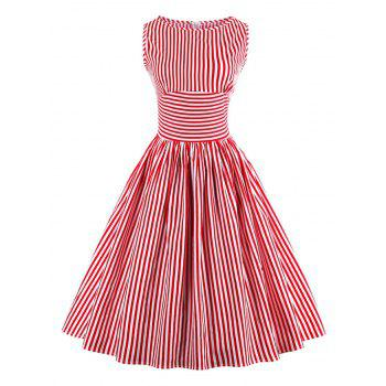 Vintage Striped Pin Up Dress