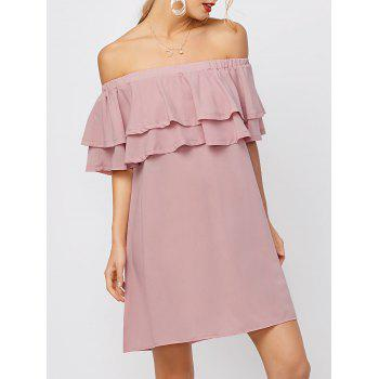 Off The Shoulder Flounce Mini Dress