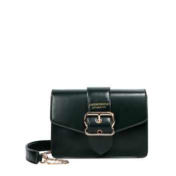 Buckle Strap Chain Cross Body Bag