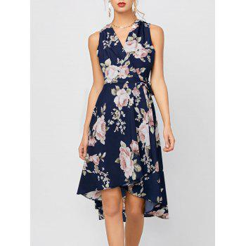 High Low Floral Sleeveless Dress