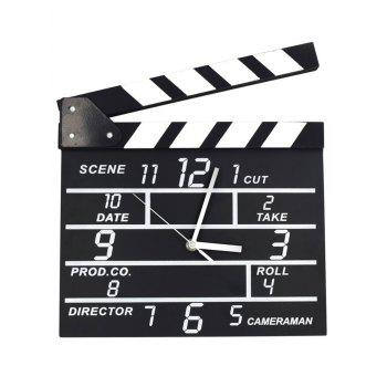 Creative Notepad Clock Home Office Decoration Movie Set Clock - BLACK