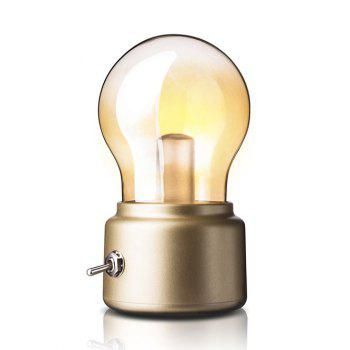 Vintage USB Rechargeable LED Energy Saving Durable Bulb Lamp - GOLDEN