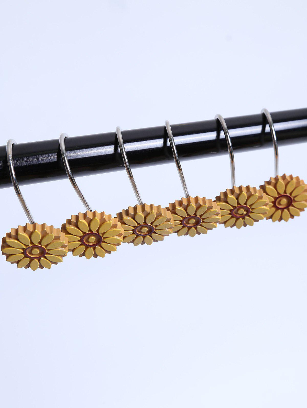 12 Pcs Resin Sunflower Shower Curtain Hooks 12 pcs resin bubble bath print shower curtain hooks