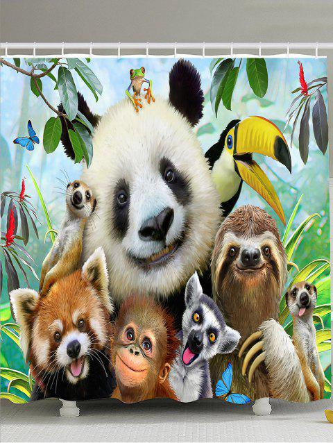 Waterproof Fabric Animal Shower Curtain - COLORMIX W71 INCH * L79 INCH