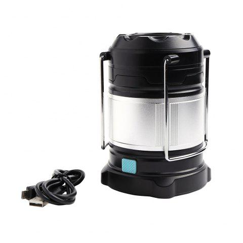 4 Modes Rechargeable Collapsible LED Camping Lantern - SILVER/BLACK