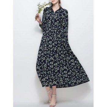 Chiffon Floral Printed Maxi Dress