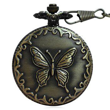 Carved Butterfly Vintage Pocket Watch