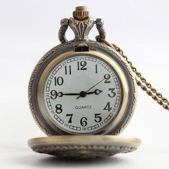 Rose Engraved Vintage Pocket Watch -  COPPER COLOR