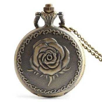 Rose Engraved Vintage Pocket Watch - COPPER COLOR COPPER COLOR