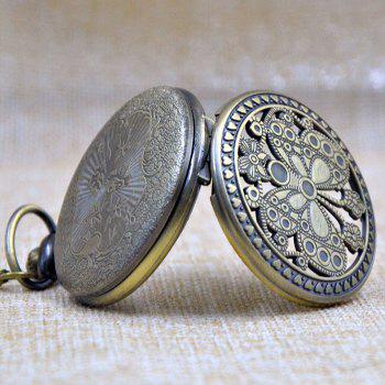 Butterfly Engraved Vintage Pocket Watch -  GOLDEN