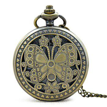 Butterfly Engraved Vintage Pocket Watch