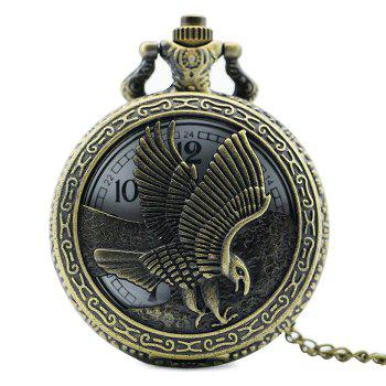 Eagle Engraved Vintage Pocket Watch