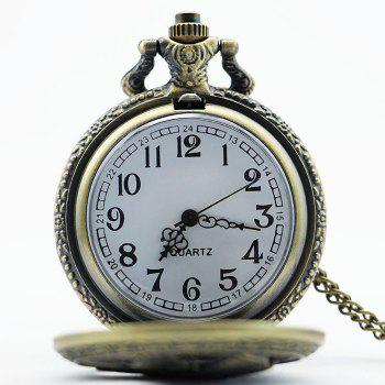 Eagle Engraved Vintage Pocket Watch - COPPER COLOR