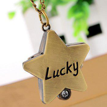Lucky Star Vintage Pocket Watch - Or