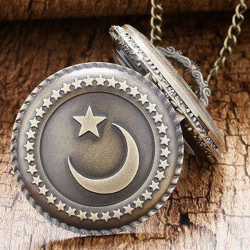 Moon Star Vintage Pocket Watch -  COPPER COLOR