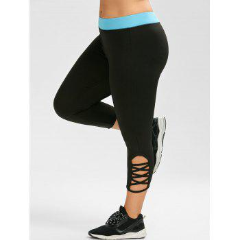 Plus Size Criss Cross Capri Sporty Leggings