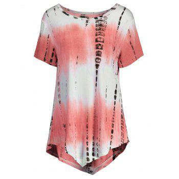 Asymmetric Printed Long T Shirt