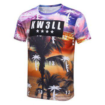 Graphic Palm Tree Print T-Shirt
