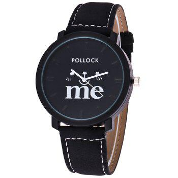 Faux Leather Strap Me Watch