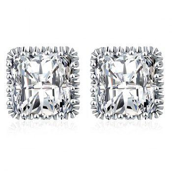Rhinestone Square Shape Stud Earrings