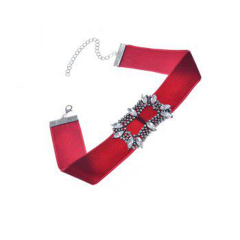 Vintage Artificial Crystal Velvet Choker Necklace