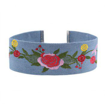 Vintage Flower Embroidery Choker Necklace