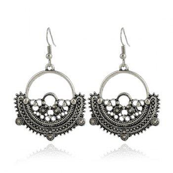 Alloy Vintage Circle Earrings