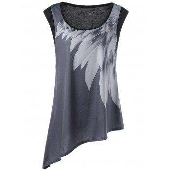 Plus Size Graphic Asymmetric Tank Top