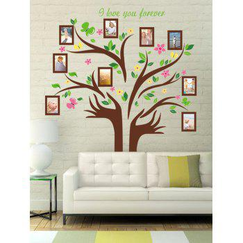 Colorful Tree Photo Frame Wall Art Sticker
