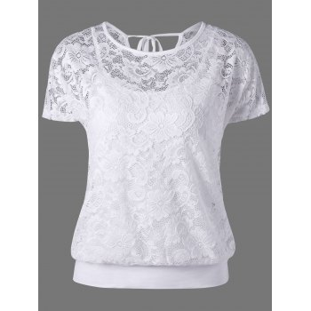 Tie Back Lace Blouse with Camisole