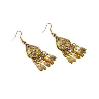 Vintage Alloy Teardrop Earrings