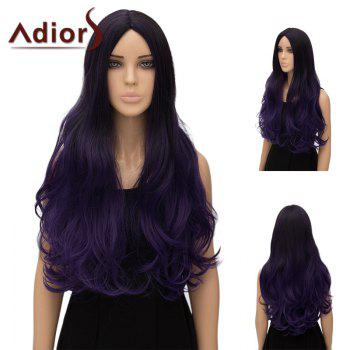 Buy Adiors Center Part Wavy Ultra Long Ombre Cosplay Synthetic Wig GRADUAL PURPLE