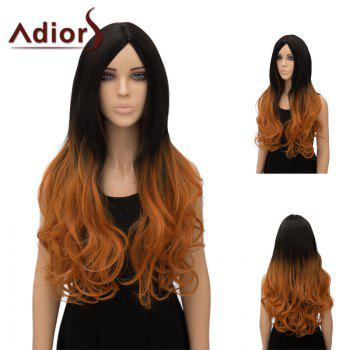 Adiors Center Part Wavy Ultra Long Ombre Cosplay Synthetic Wig