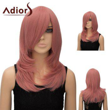 Adiors Long Straight Tail Adduction Inclined Bang Cosplay Anime Wig