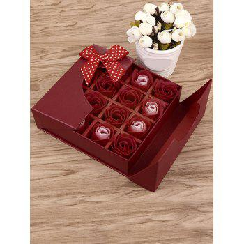 1 Box 16 Grids Artificial Soap Rose Mother's Day Gift - BRIGHT RED BRIGHT RED